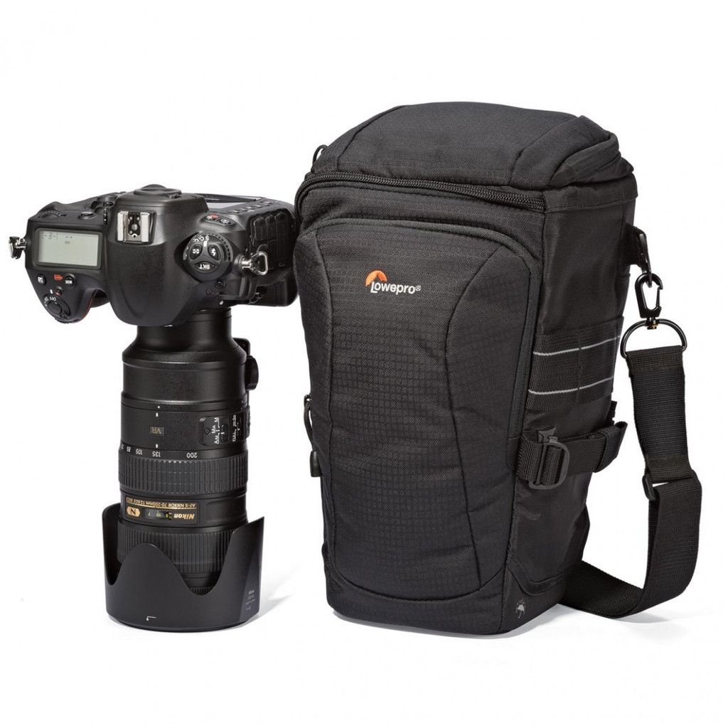 Black Lowepro Toploader Pro 70 AW II Bag for Camera