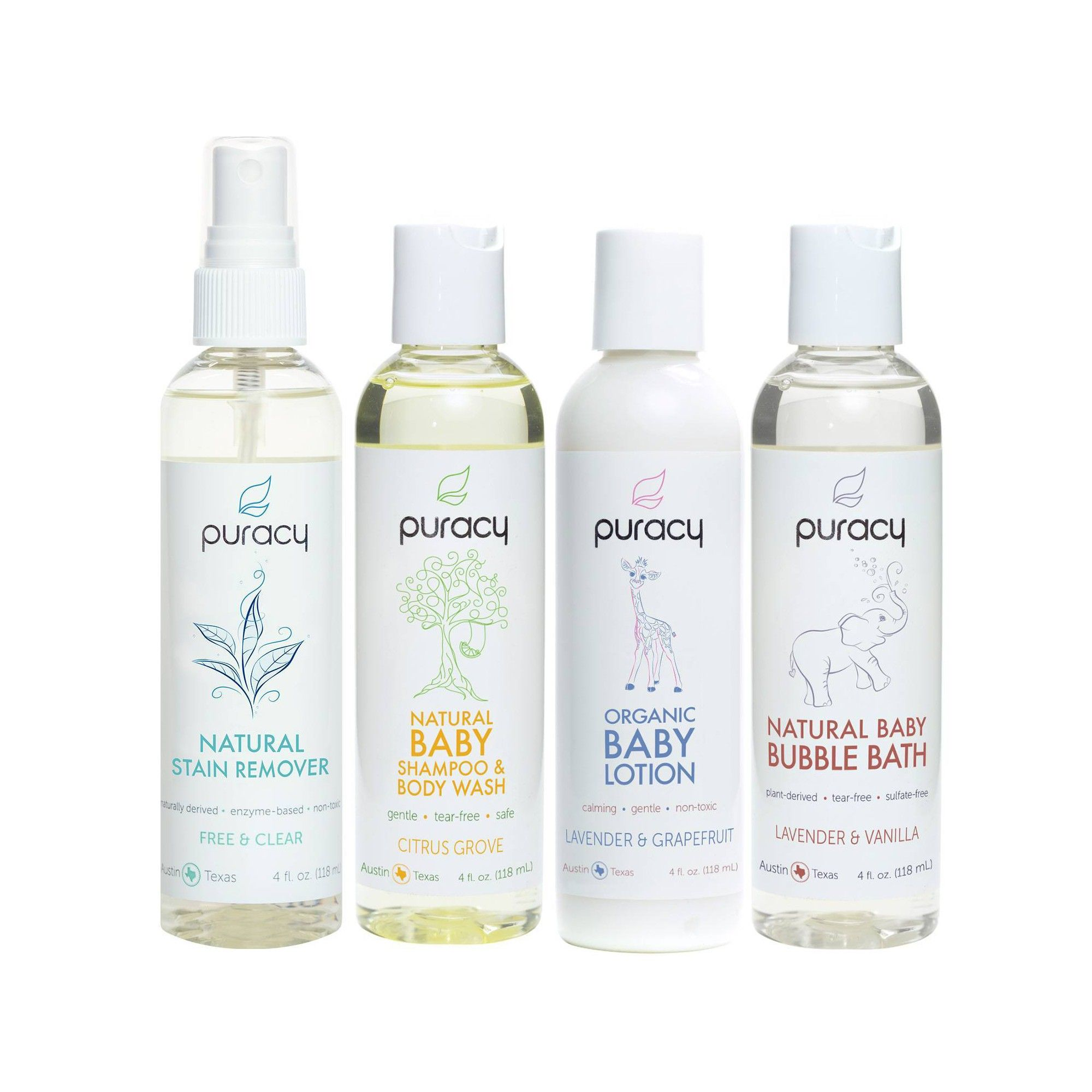 Puracy Natural & Organic Baby Care Travel Set in 2020