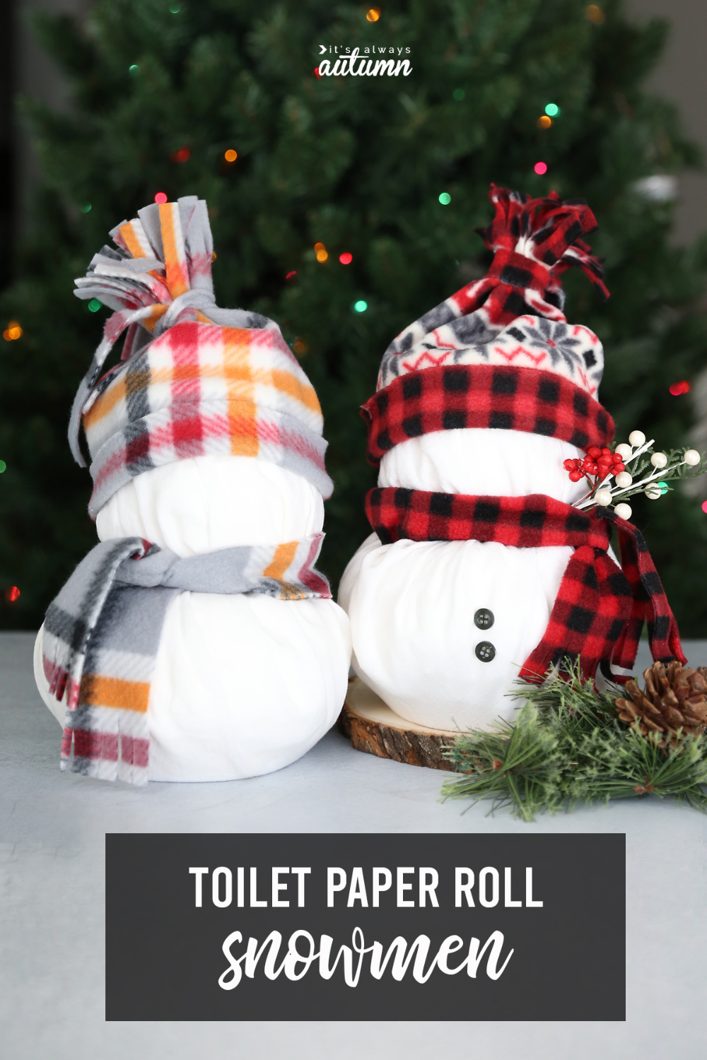 Toilet Paper Snowmen {Easy Christmas Craft Easy