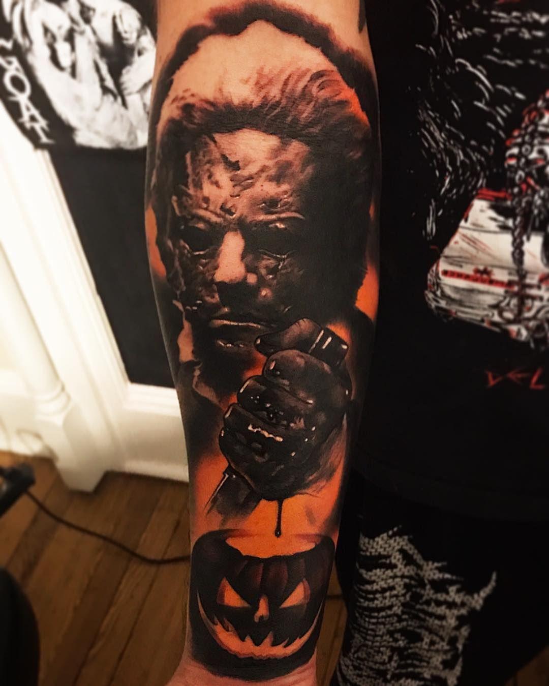 Rob Zombie Halloween tattoo Halloween tattoos, Zombie