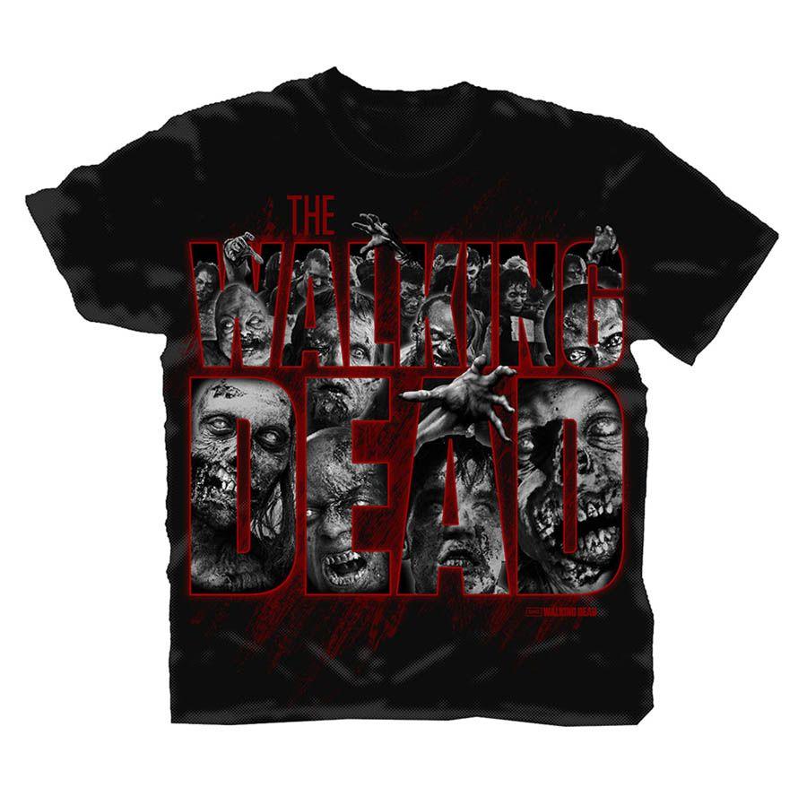 Camiseta grupo zombies the walking dead the walking dead