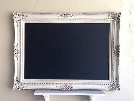 LARGE Wedding CHALKBOARD Framed Chalkboard Vintage White Chalk Board French Provincial Ornate Wedding Menu Seating Chart - ReADY to SHiP