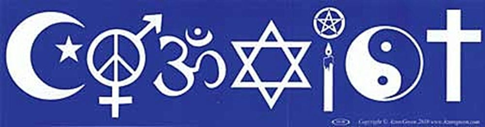 Bumper Sticker Coexist Spelled Out In Symbols Interfaith Car Decal