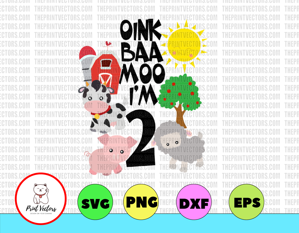 Oink Baa Moo Petting Zoo Party Oink Moo Turning ONE First Birthday Girl Birthday SHIRT Farm Party Theme 1st Birthday Farm Birthday