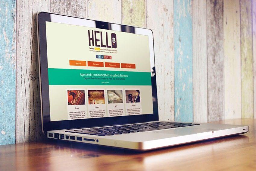 Tutoriel créer un style flat design one page avec Photoshop