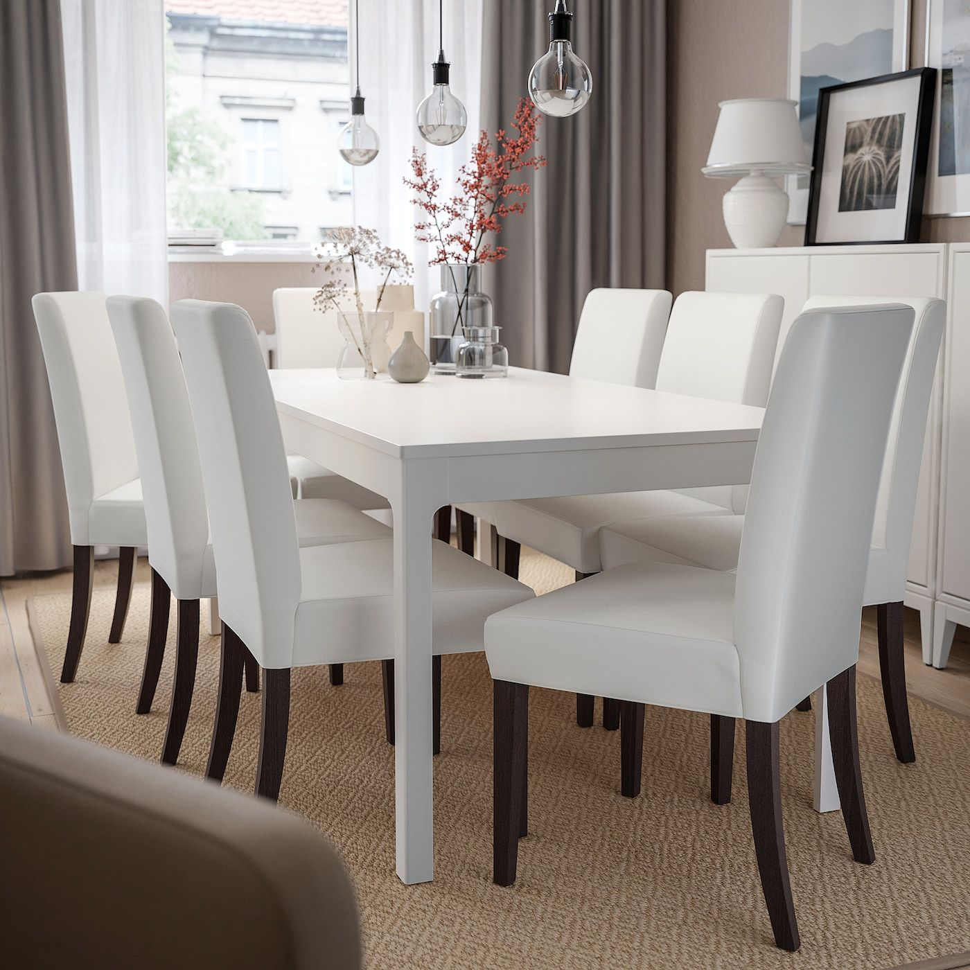 Henriksdal Chair Grasbo White Ikea Canada Ikea In 2020 Ikea Dining Chair White Dining Room Table White Dining Table Modern