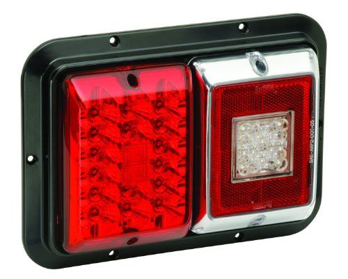Bargman 47-84-613 Surface Mount Taillight, Red Trailer Light - Surface Mount - Double - For 84/85 Series - Red/LED - w/Backup - Black Base.  #Bargman #Automotive_Parts_and_Accessories