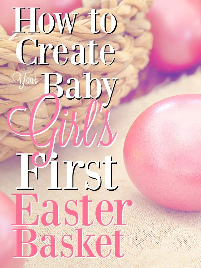 Easter basket ideas for your newborn girls first easter negle Image collections
