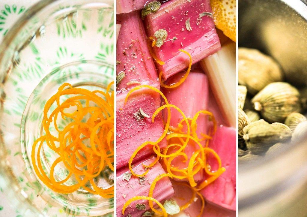Reispudding mit nach Orange und Kardamom duftendem Rhabarberkompott