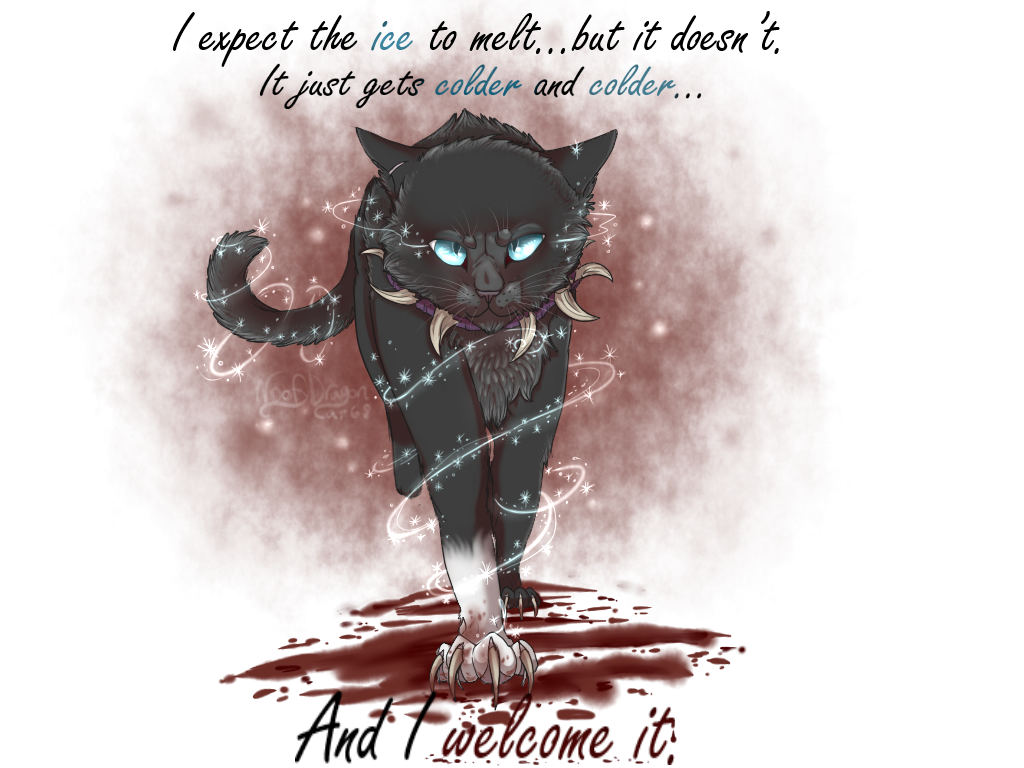 Kinda overdid it with the illumination, but this thing took me all day of non stop work so I am going to accept it. Anyways, these are the characters Scourge and Hawkfrost (by Erin Hunter) I wanted...