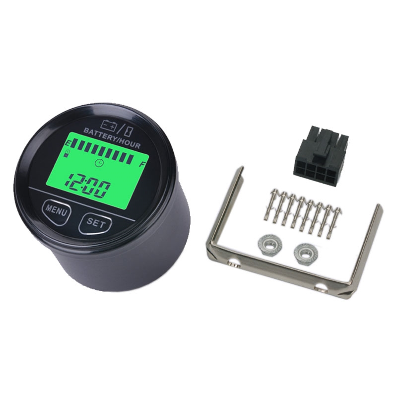 74.93$  Watch here - http://ali71z.worldwells.pw/go.php?t=32655197040 - large LCD green backlight display Battery Gauge VOLT meter battery indicator with hour meter for ATV Tractor golf carts 74.93$