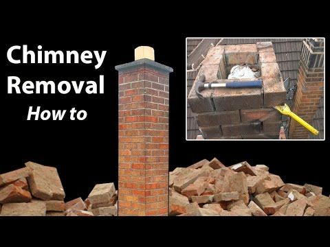 Removing A Chimney Below Roof Level How To Brick Chimney How