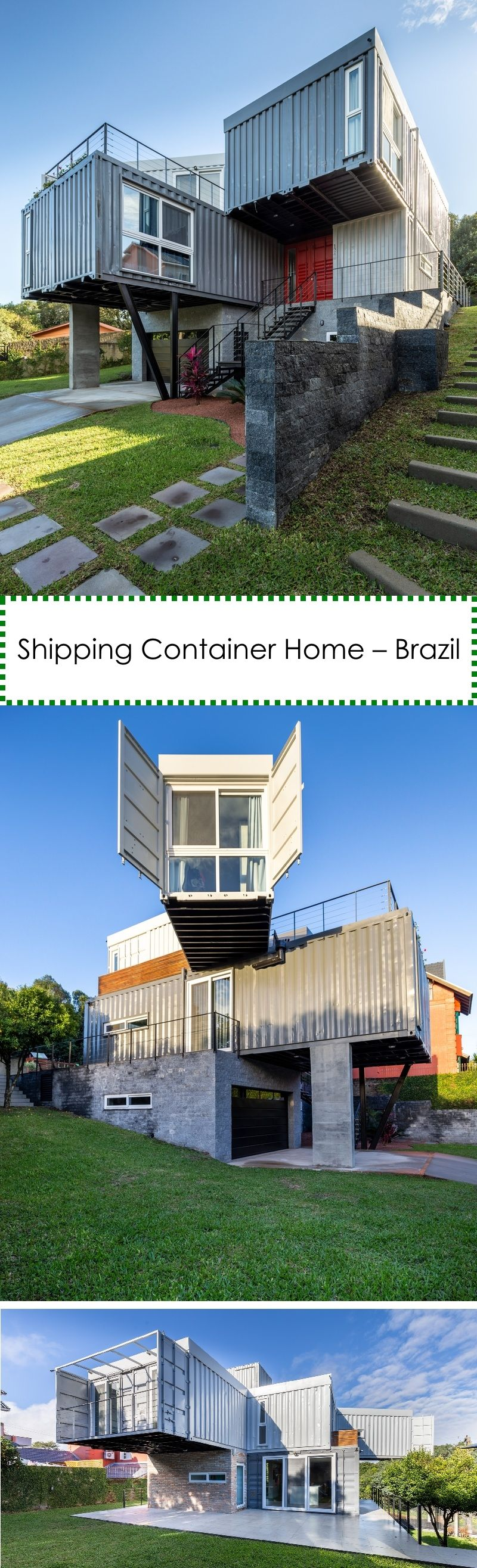 Shipping Container Home – Brazil  #containerhouse