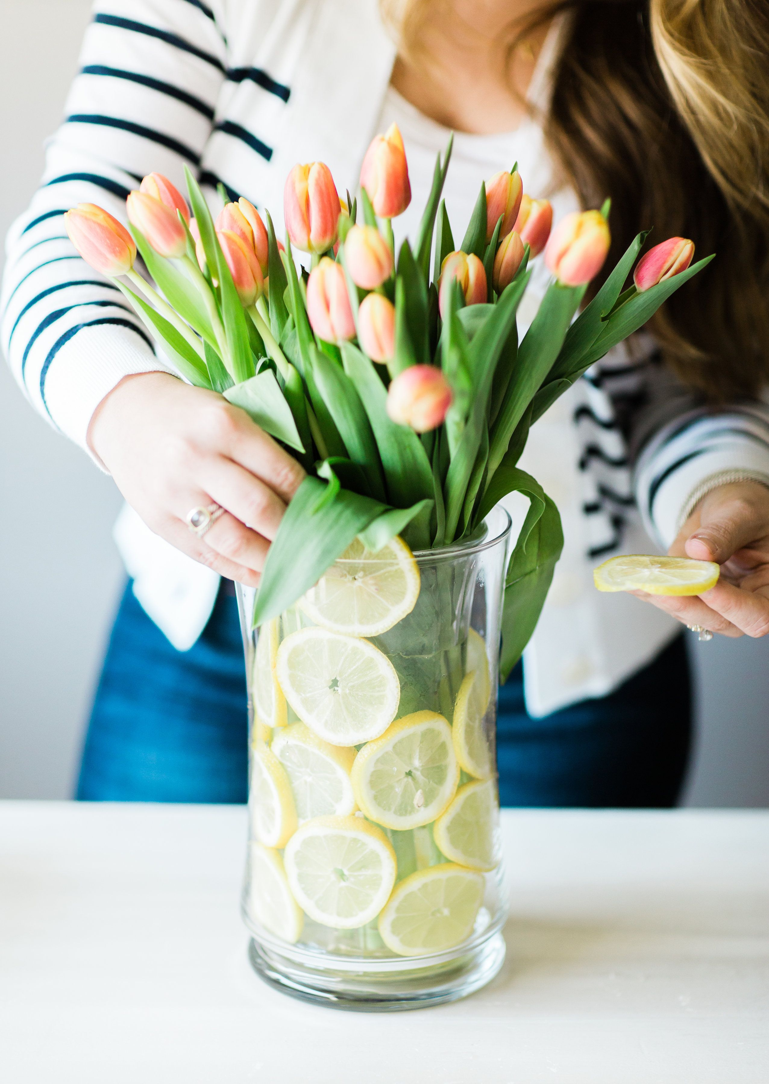 Easy Lemon Floral Arrangement - Coffee Beans And Bobby Pins