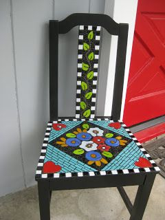 Mary Engelbreit Inspired Mosaic Chair Cute Mosaicchair Cherry Maryengelbreit
