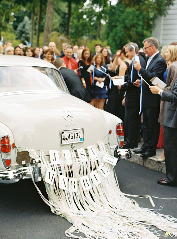 11 Gorgeous Ways To Decorate Your Wedding Getaway Car