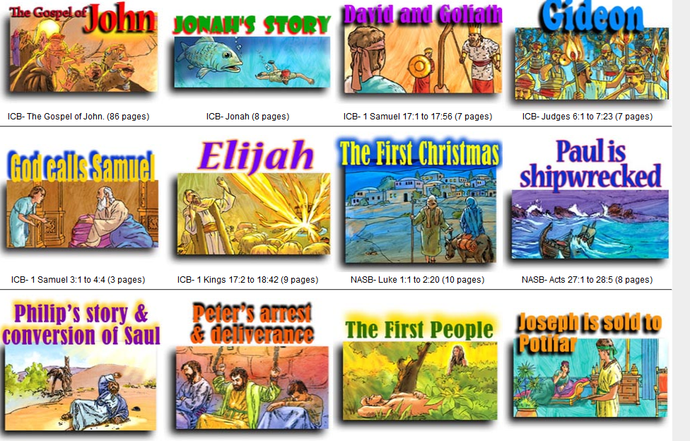 bible stories for children with pictures free download