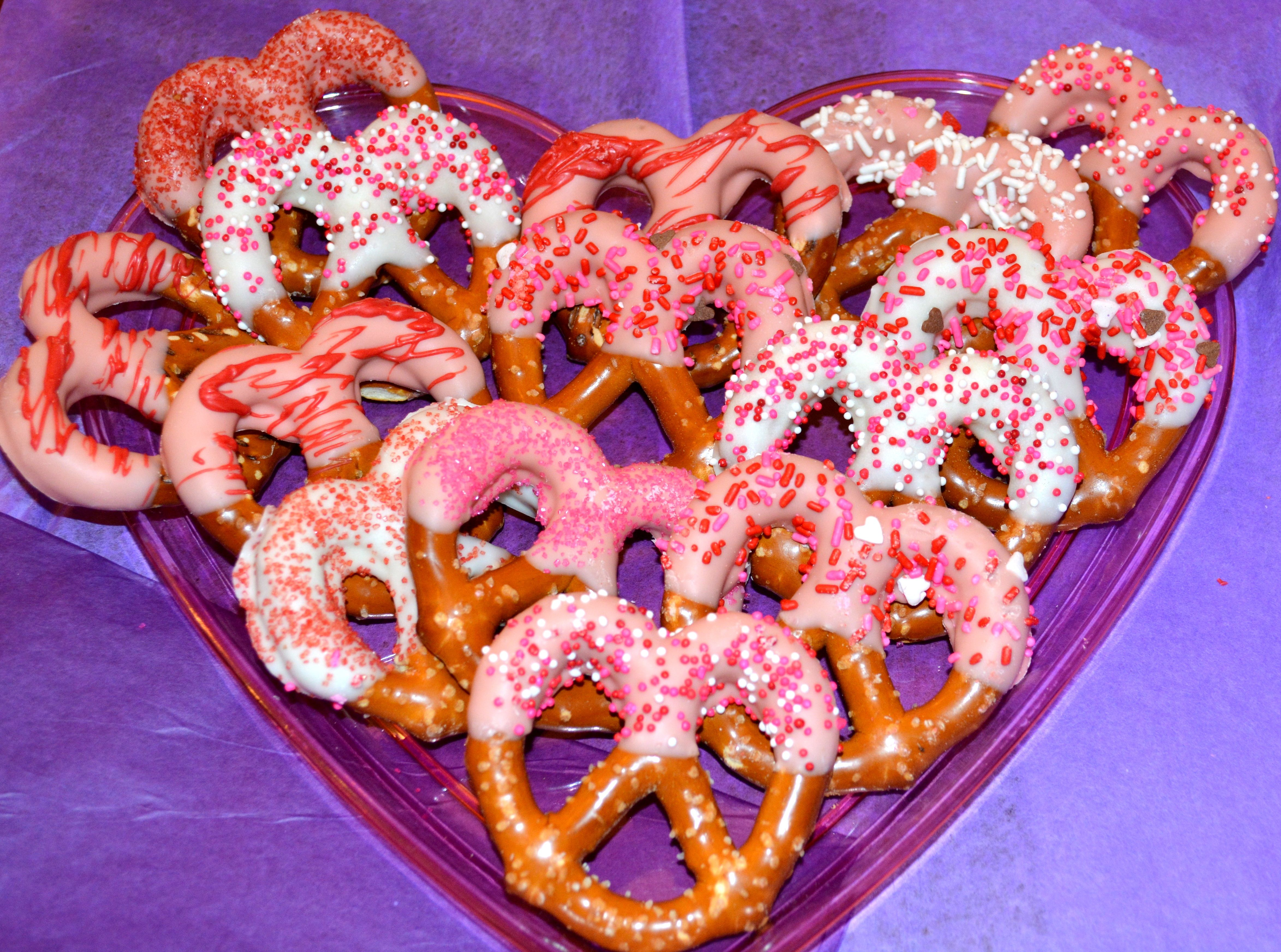 Handdipped white chocolate jumbo pretzels perfect for