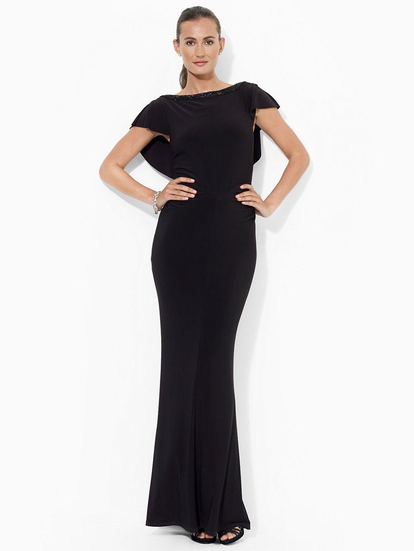 Beaded V-Back Gown - Sale Dresses - RalphLauren.com | Vintage Modern ...
