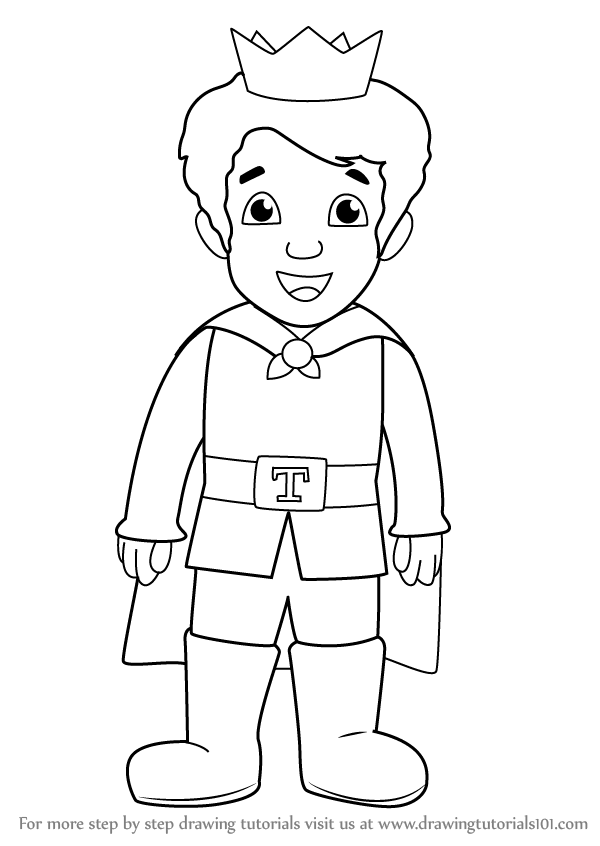 Learn How To Draw Prince Tuesday From Daniel Tiger S