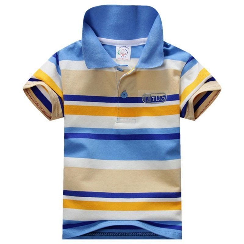 Summer Striped Boys T Shirts Kids Tops Tees Baby Children Clothes Short Sleeves