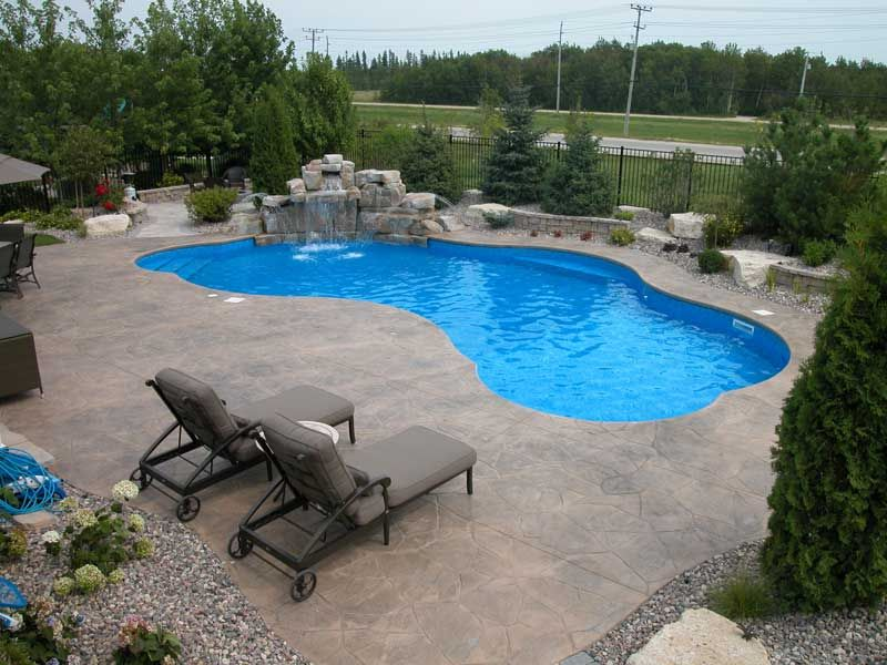 Swimming pool patio designs