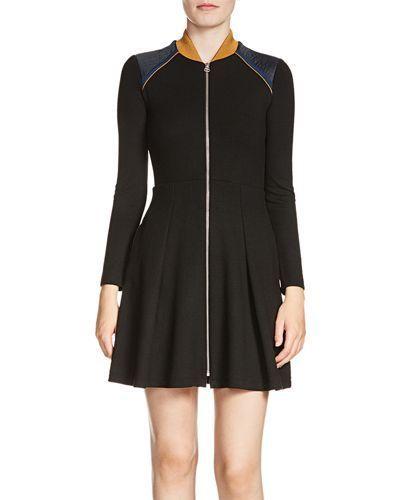 Maje Raline Zip Front Dress