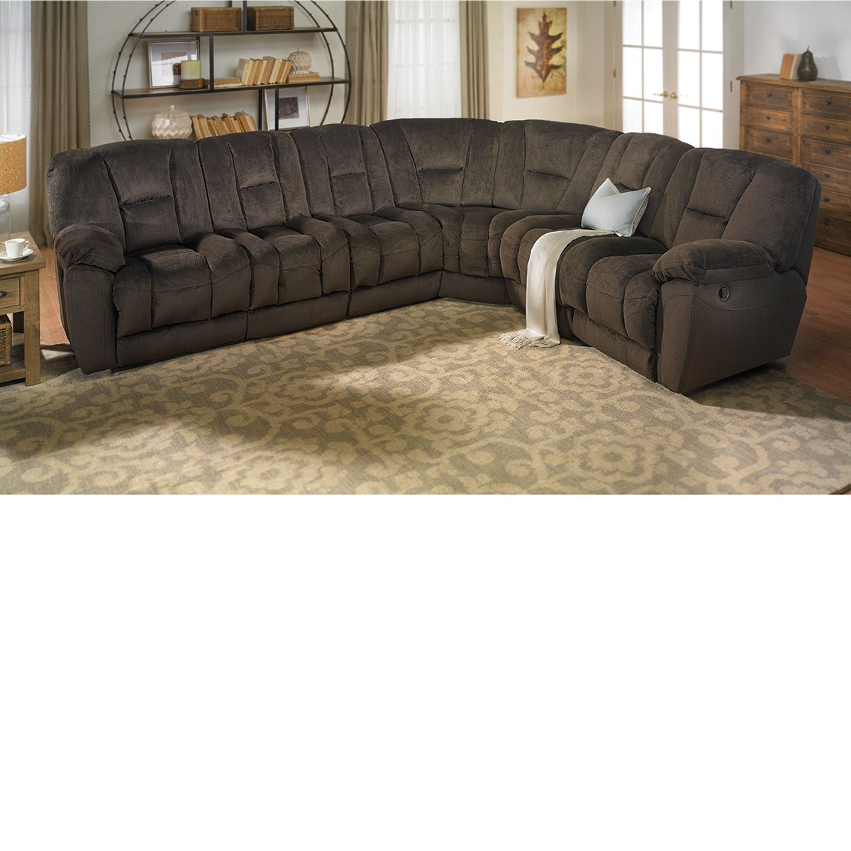 Dual Reclining Memory Foam Sectional