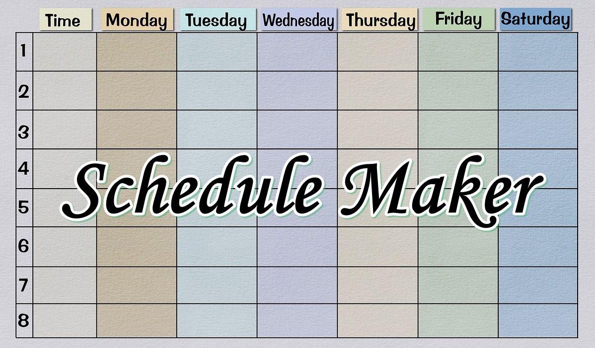 Free Online Schedule Maker In 2021 Love Photos Cool Photos Perfect Image Free online college schedule maker