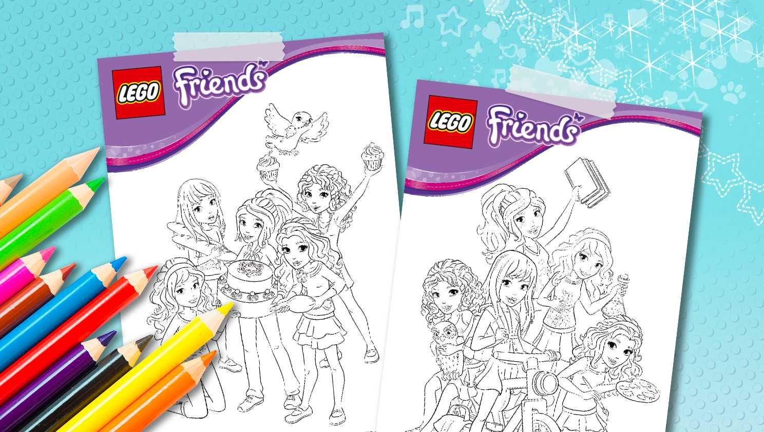download lego® friends coloring sheets  downloads