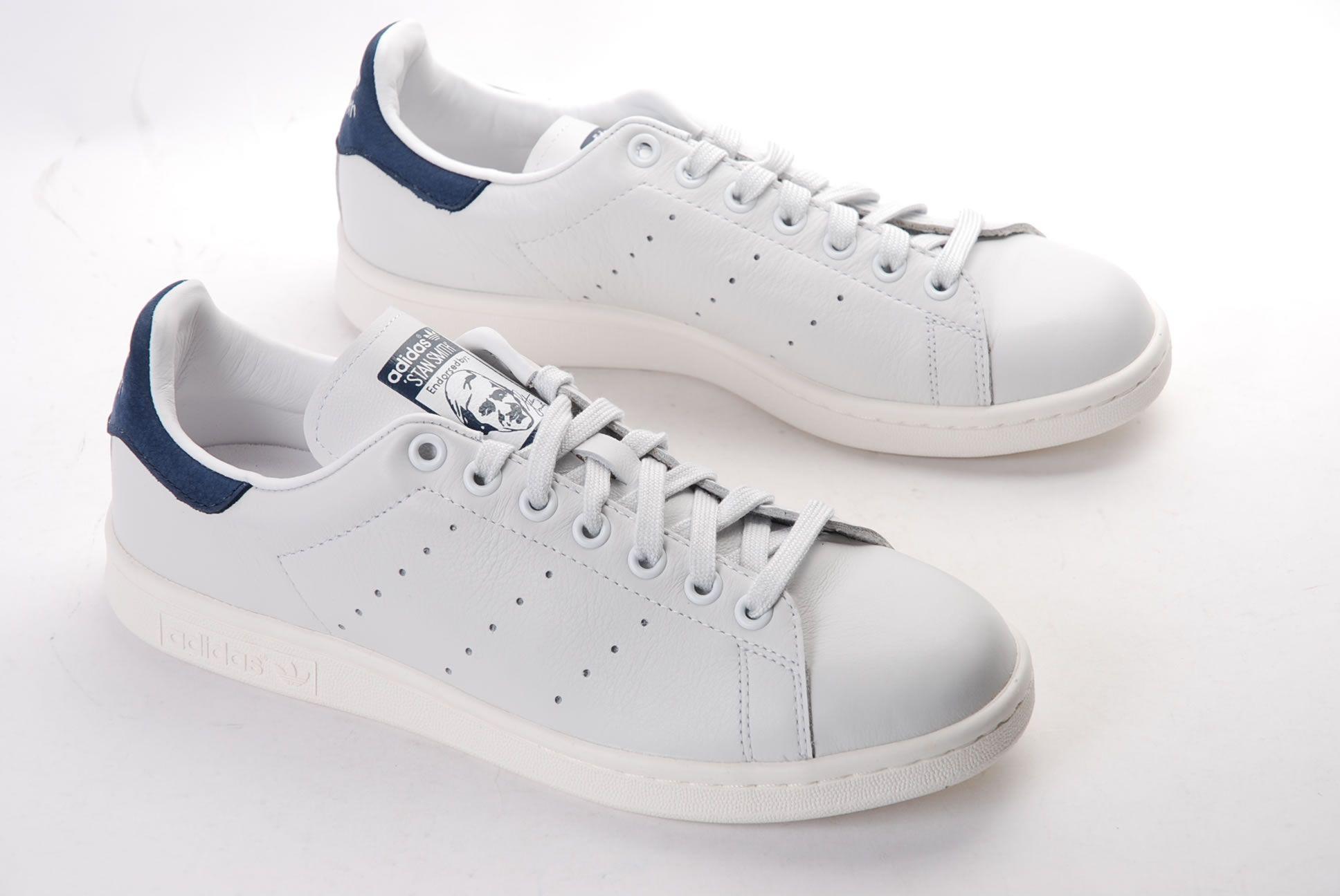 adidas stan smith blanc et bleu femme