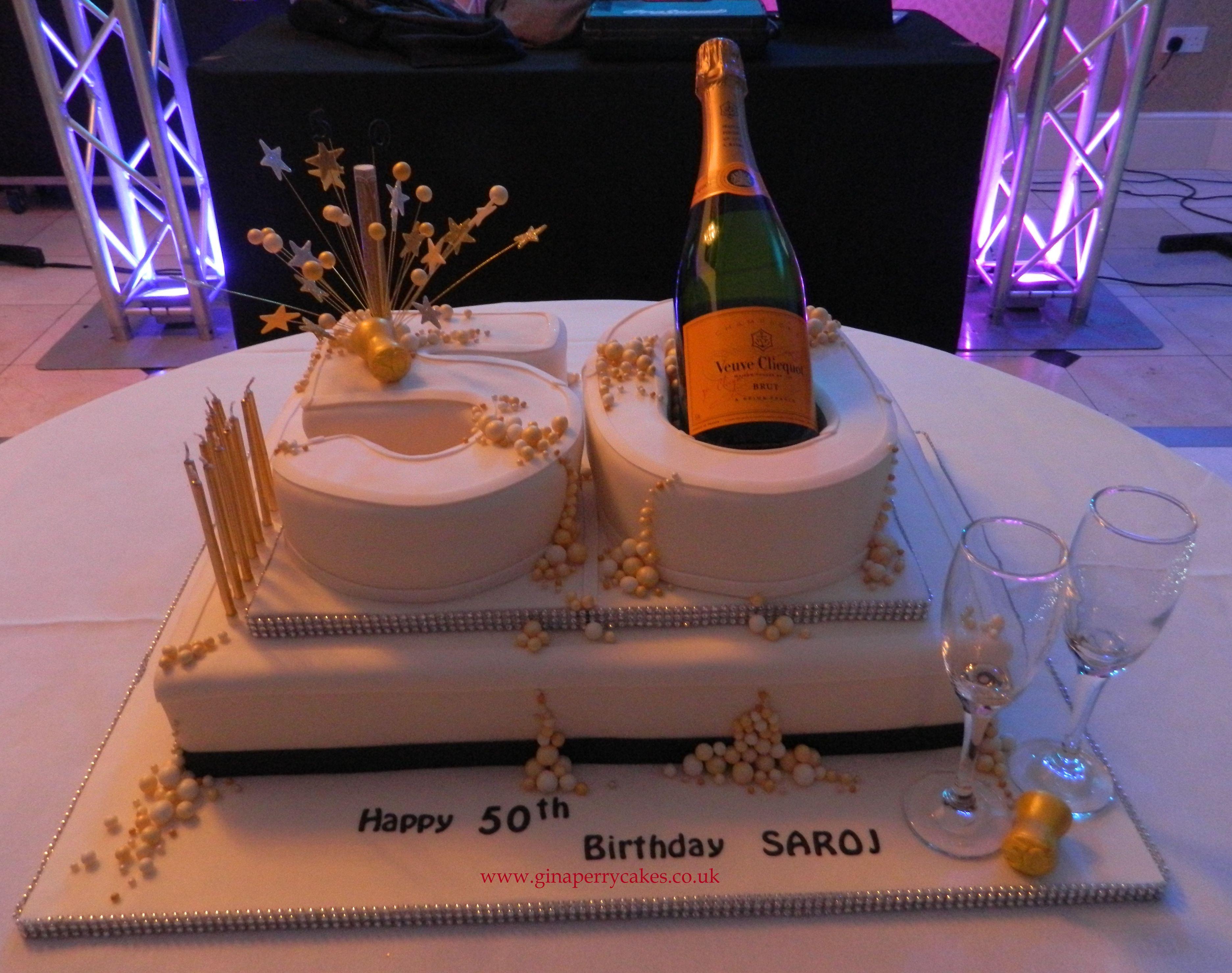 Champagne Themed 50th Birthday Cake Birthday Cake Wine 50th Birthday Cake Birthday Cakes For Men