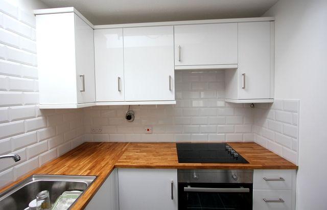 White Brick Tile White Grout Wall White Kitchen Tiles Kitchen