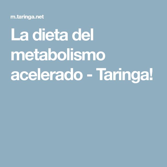 La dieta del metabolismo acelerado - PDF - Dieta del..
