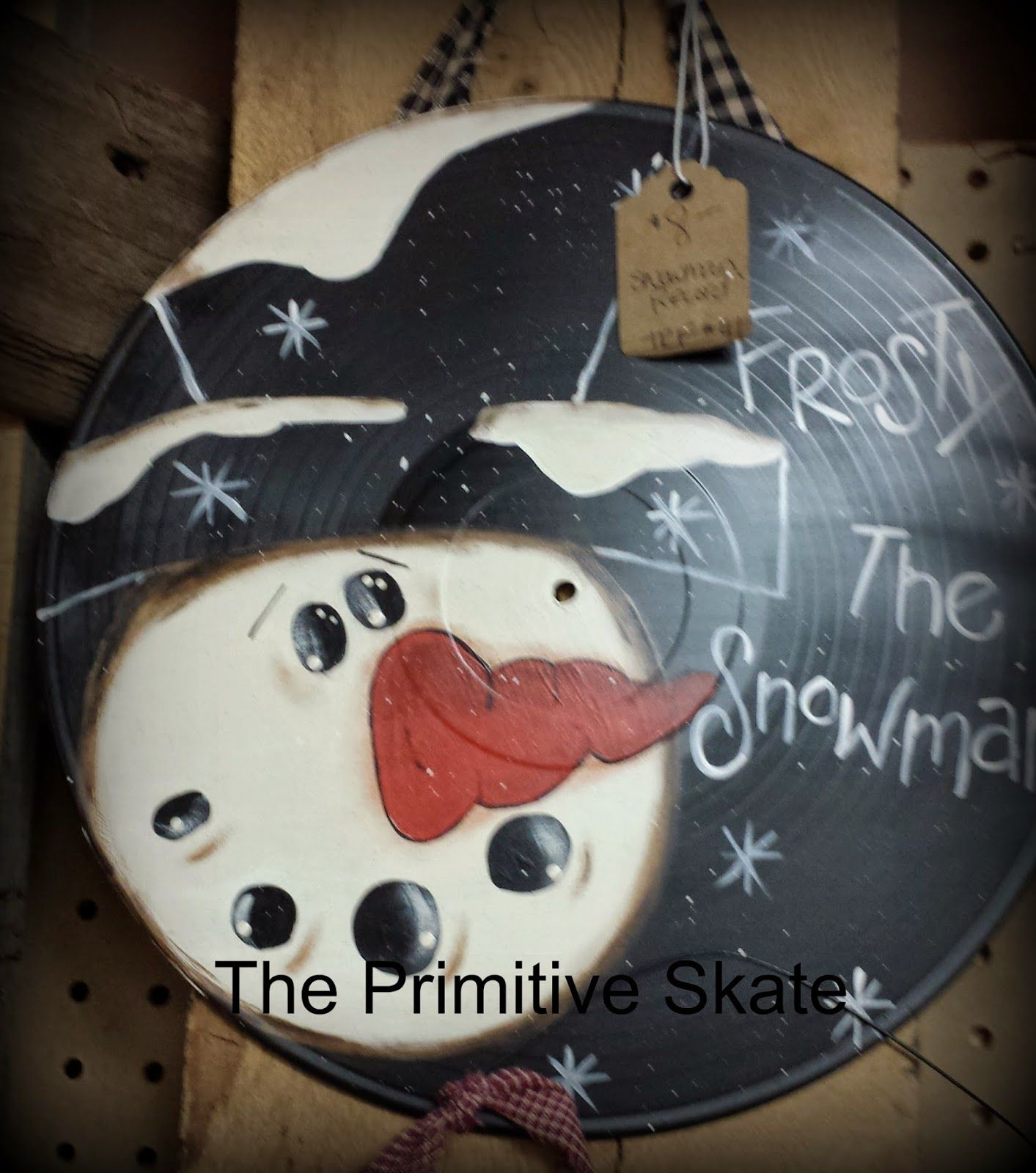 The Primitive Skate Painting Up Some Snowmen More