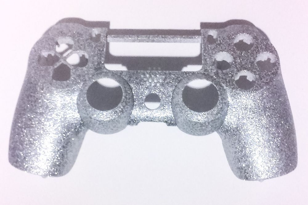 Silver Bling Front Shell Case Faceplate Repair for Dualshock