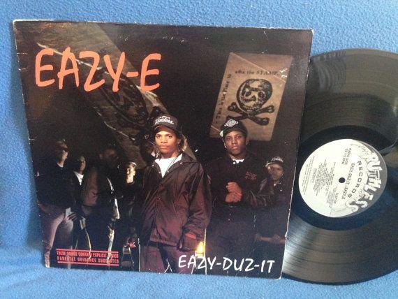 Rare Vintage Eazy E Eazy Duz It Vinyl Lp Record Album Original First Press Boyz N The Hood We Want Ice Cube Dr Dre Nwa N W A Vinyl Vinyl Sales Vibrant Art