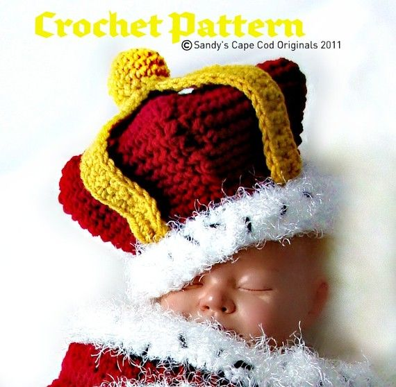 Crochet Prince or Princess Cocoon and Hat Crochet Pattern PDF530 ...
