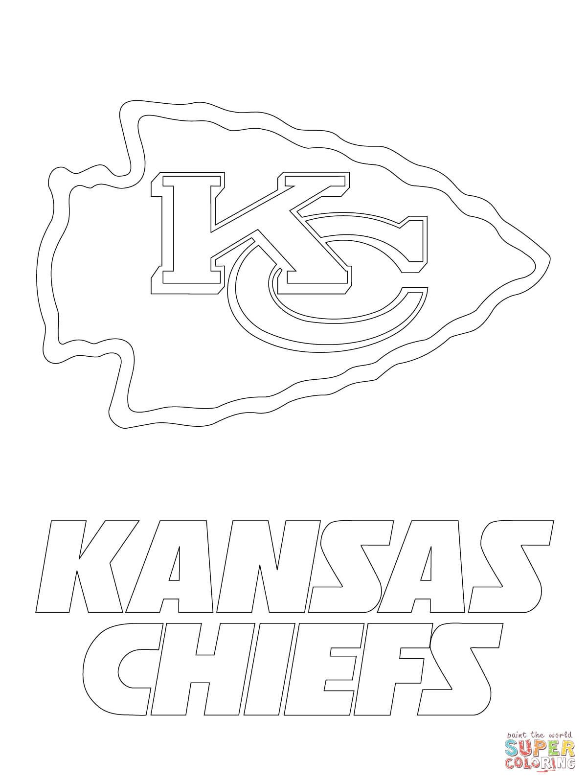 Kansas City Chiefs Logo Coloring Page Free Printable Coloring