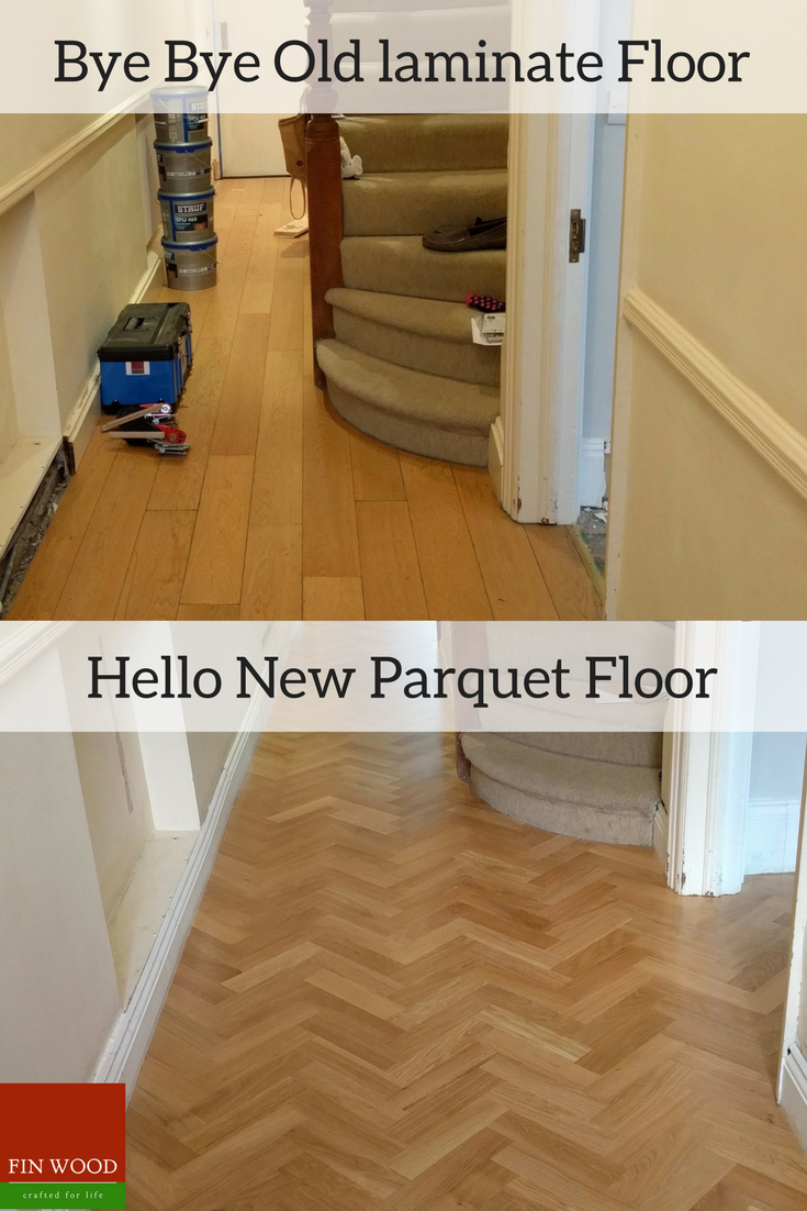 This Entrance Hall Was Completely Transformed When We Replaced The - When was parquet flooring popular