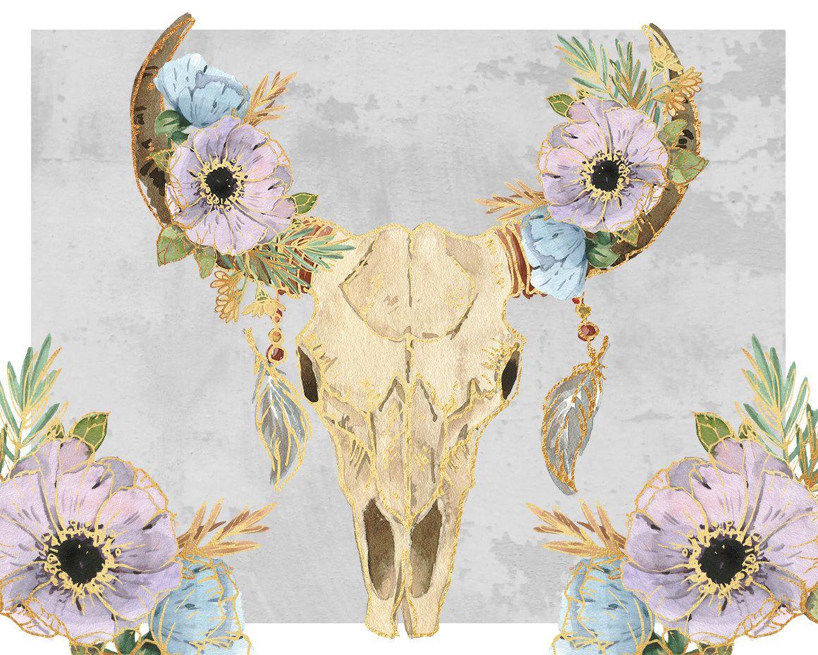 Boho skull boho bouquet tribal clipart flowers bouquet wedding boho skull boho bouquet tribal clipart flowers bouquet izmirmasajfo