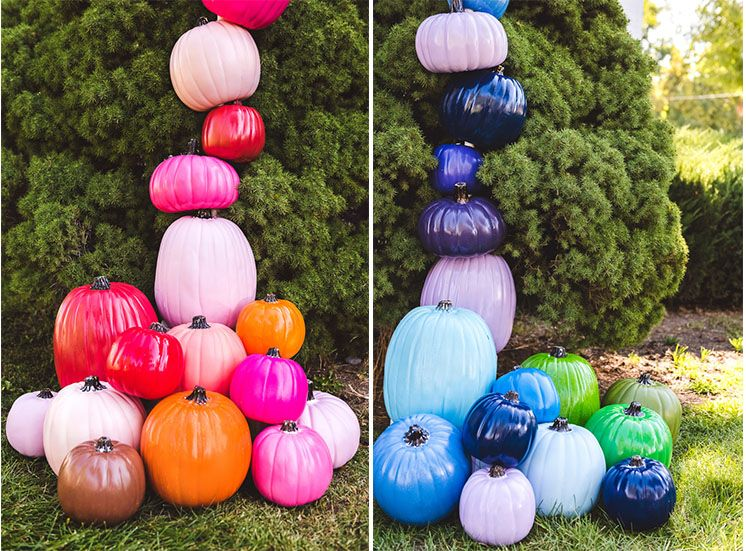 Diy rainbow pumpkin arch halloween decorations rainbow diy