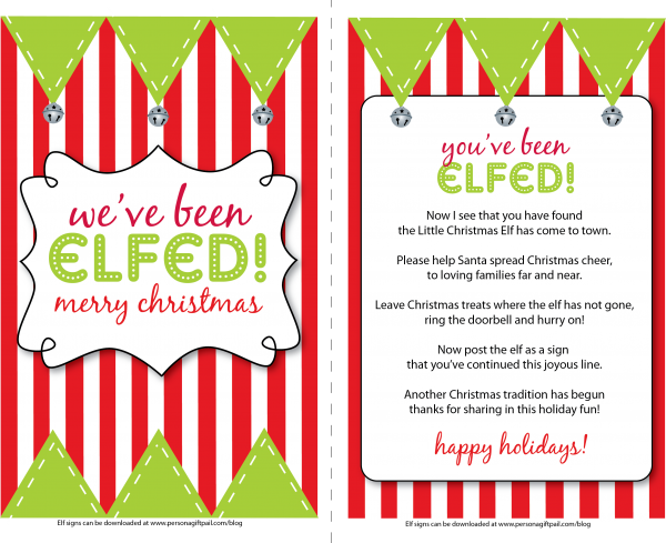 image regarding You've Been Elfed Free Printable titled Youve been elfed! What a very good notion!simply such as the