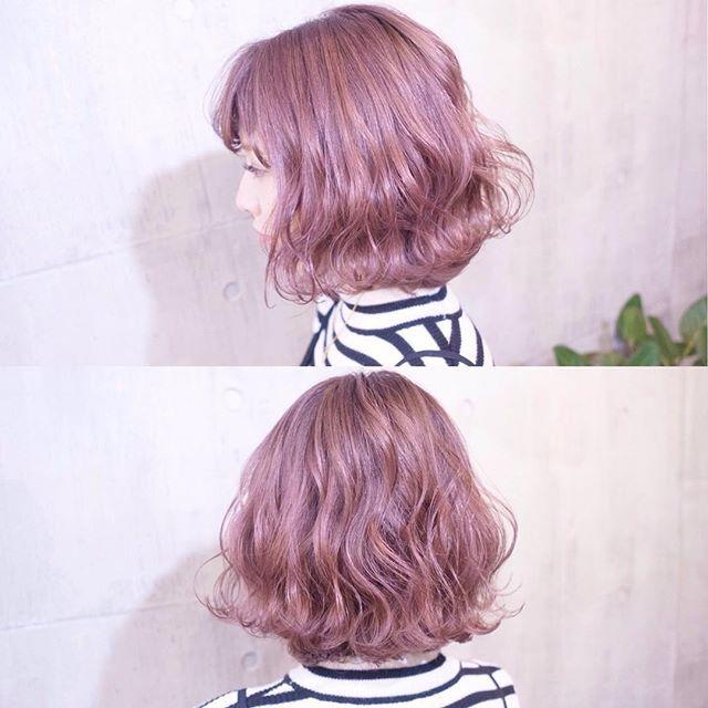 まなみcolor グラデーション ピンクヴェールラベンダー ピンクにちょっぴりラベンダーを混ぜて ピンク過ぎない透明感のある可愛らしいカラーです ご予約は随時お受けしておりますので 気軽にお声掛けください Shachu Hair ゴージャスなヘア 短い髪のため