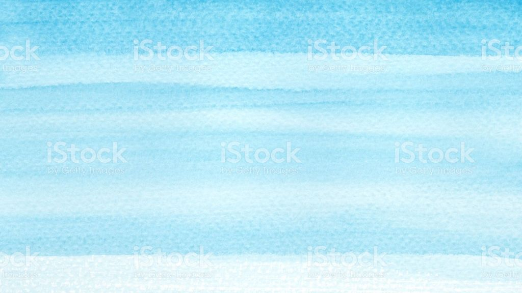Ocean Sea Or Sky Blue Azure Turquoise Watercolor Abstract