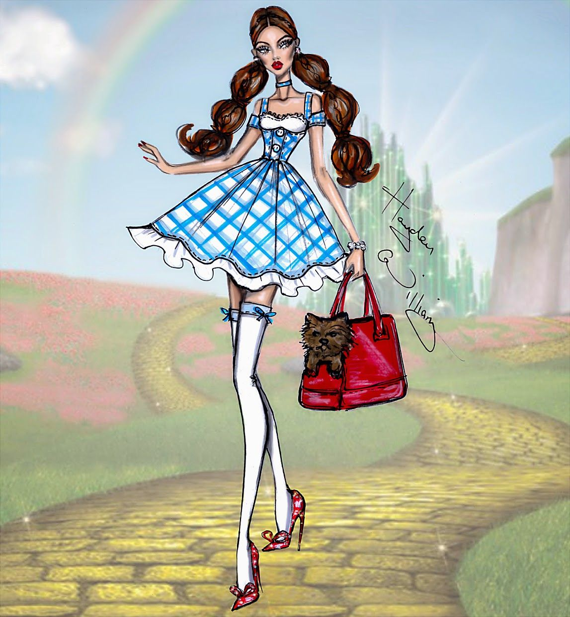 Hayden Williams Fashion Illustrations: The Wizard of Oz 75th Anniversary: Dorothy by Hayden Williams