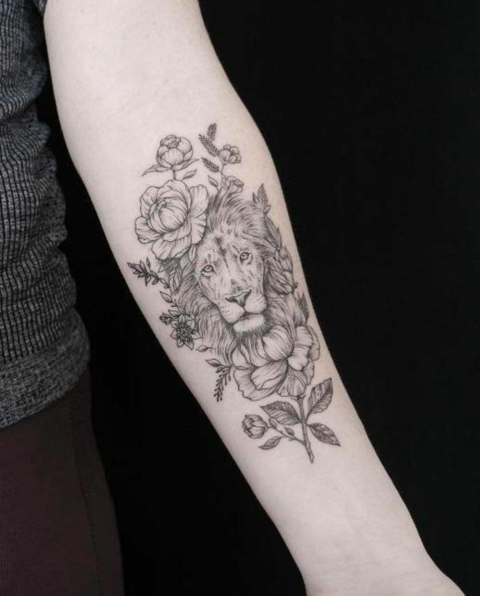 tattoo lionne signification du signe lion cool id e tatouage animal id es de tatouages. Black Bedroom Furniture Sets. Home Design Ideas
