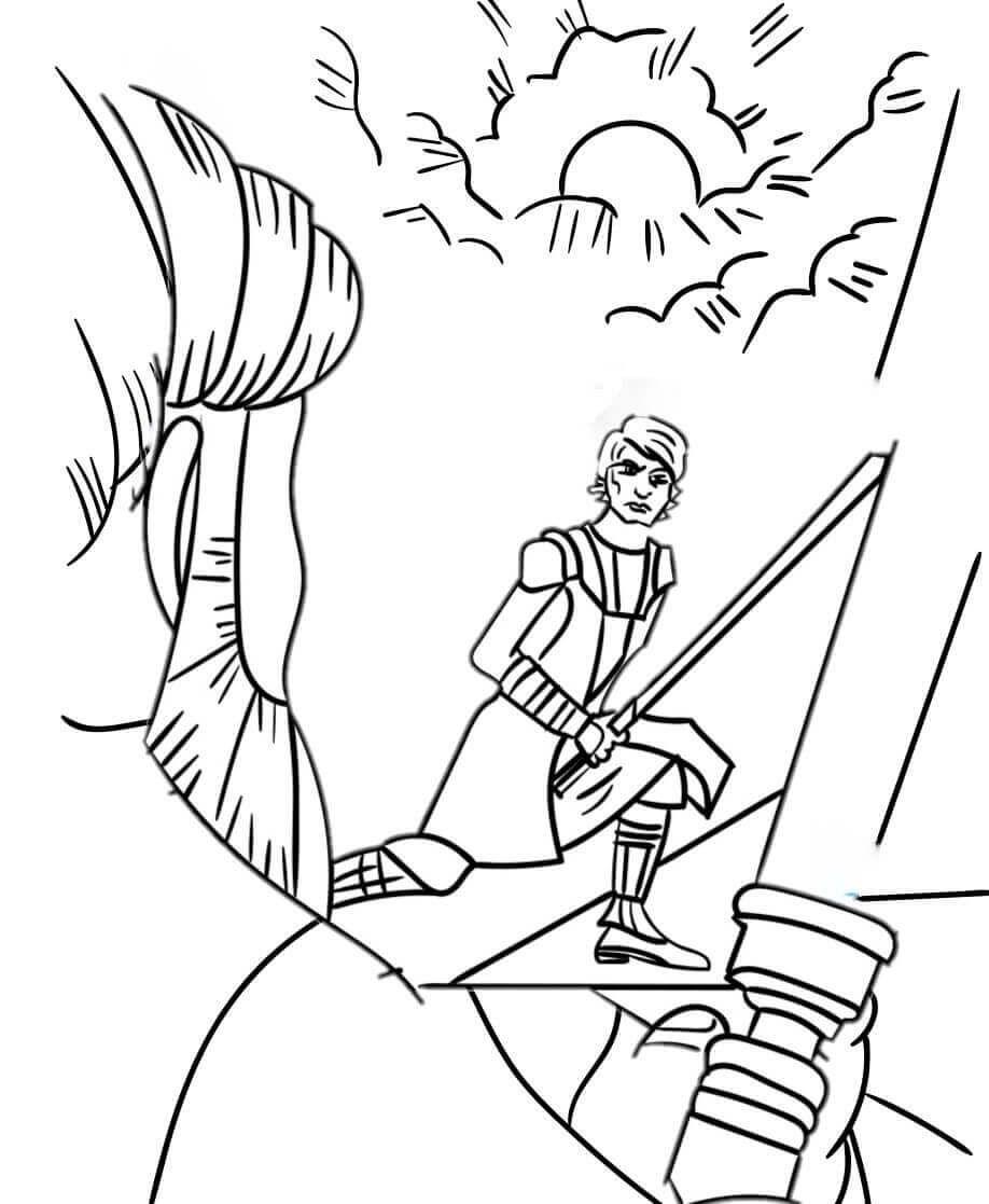 30 Free Star Wars Coloring Pages Printable Coloring Pages Obi Wan Obi Wan Kenobi [ 1117 x 918 Pixel ]