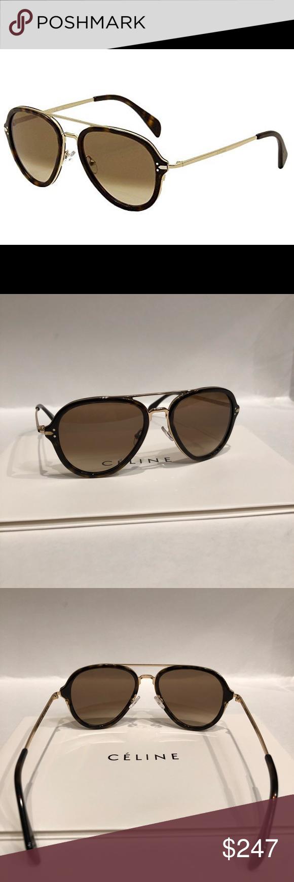 503766486d19 Celine sunglasses Celine 41374 S 0ANT Dark Havana Gold   9J gray lens  sunglasses New