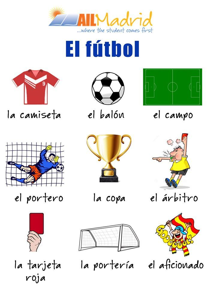 basic soccer vocabulary in spanish vocabulario relacionado con el futbol videos cartoons. Black Bedroom Furniture Sets. Home Design Ideas